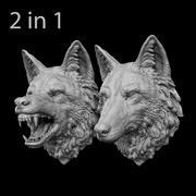 Wolf Head Sculpture 3d model