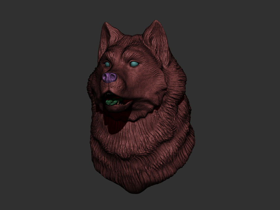 Köpek kafası royalty-free 3d model - Preview no. 5