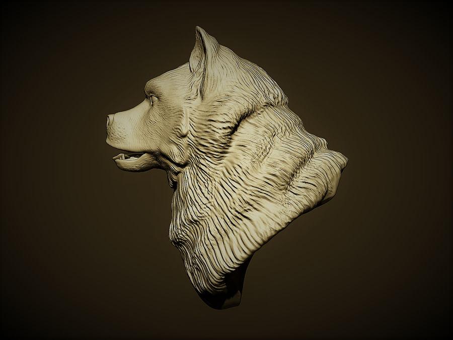 Köpek kafası royalty-free 3d model - Preview no. 2