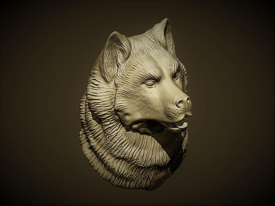 Köpek kafası royalty-free 3d model - Preview no. 3