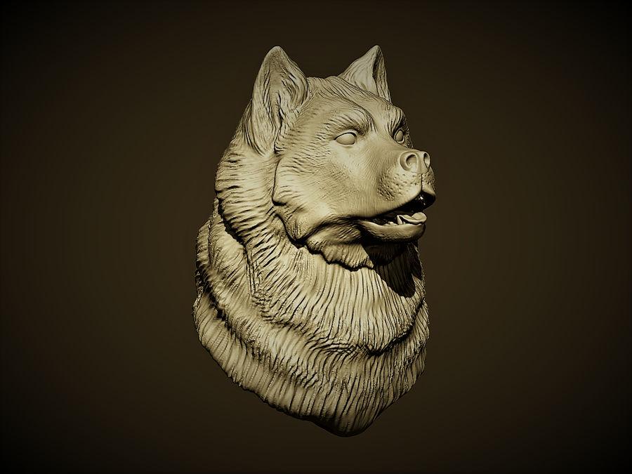 Köpek kafası royalty-free 3d model - Preview no. 4