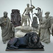 Statues Pack Vol. 3 with LODs 3d model