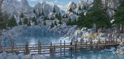 Rivierbrug landschap 3d model