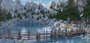 River Bridge Landscape 3d model