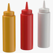 Condiment Bottles 01 3d model