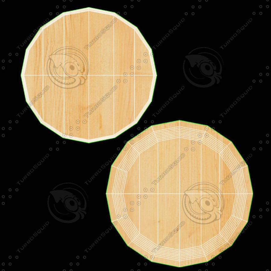 Mesa de comedor minimalista con bancos de madera royalty-free modelo 3d - Preview no. 17