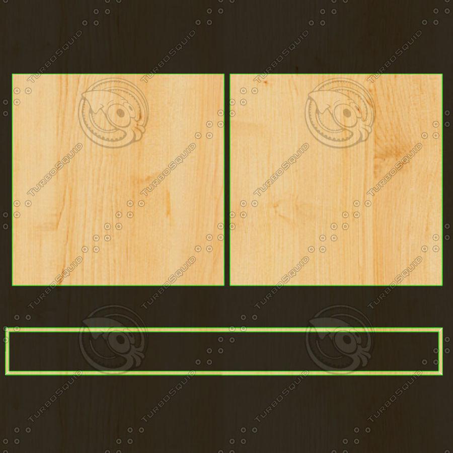 Mesa de comedor minimalista con bancos de madera royalty-free modelo 3d - Preview no. 19