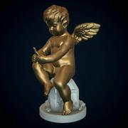 Cupid med docka 3d model