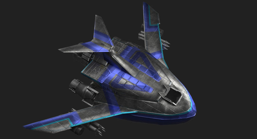 SciFi Fighter royalty-free 3d model - Preview no. 7