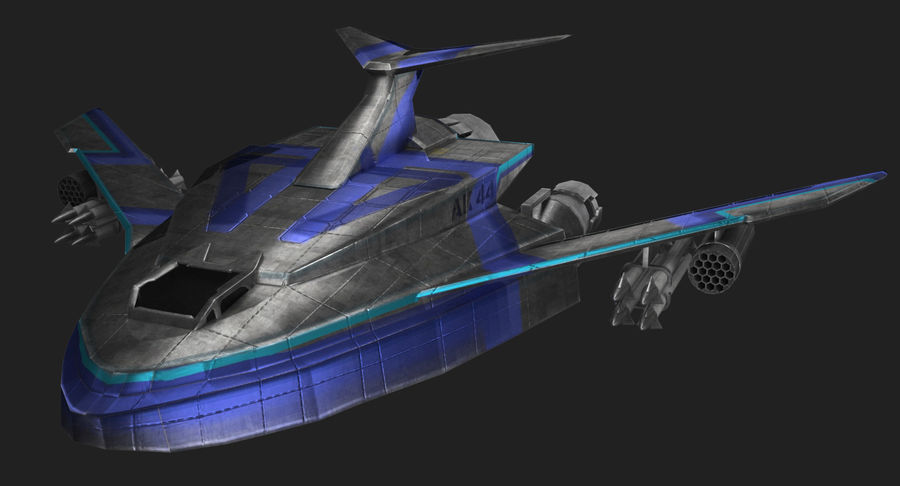 SciFi Fighter royalty-free 3d model - Preview no. 6