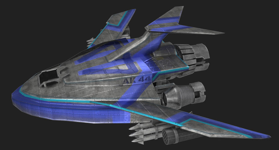 SciFi Fighter royalty-free 3d model - Preview no. 2