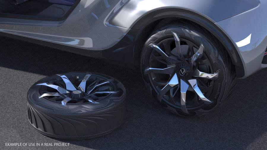Rueda conceptual royalty-free modelo 3d - Preview no. 3