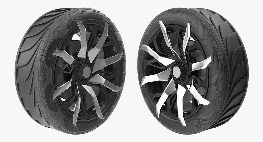 Rueda conceptual royalty-free modelo 3d - Preview no. 8