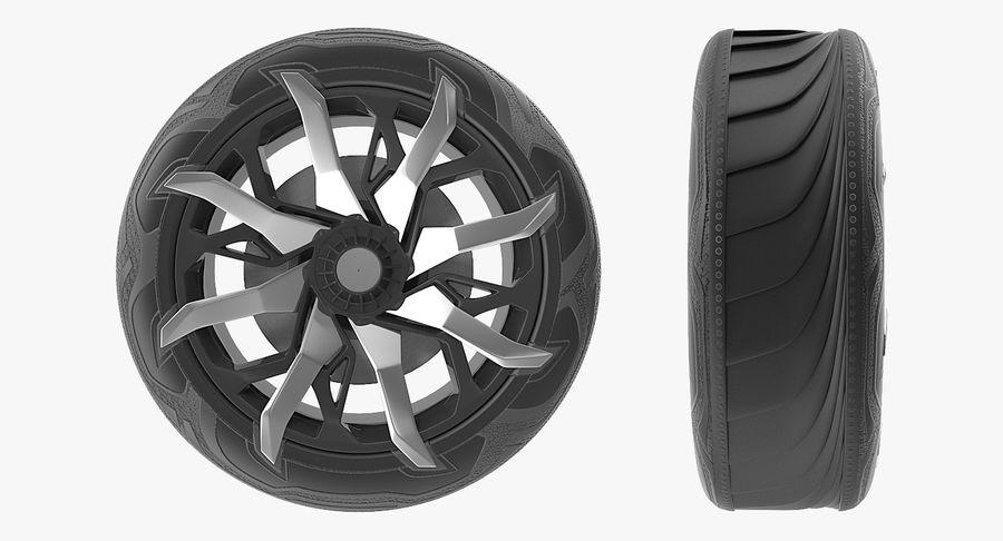 Rueda conceptual royalty-free modelo 3d - Preview no. 9