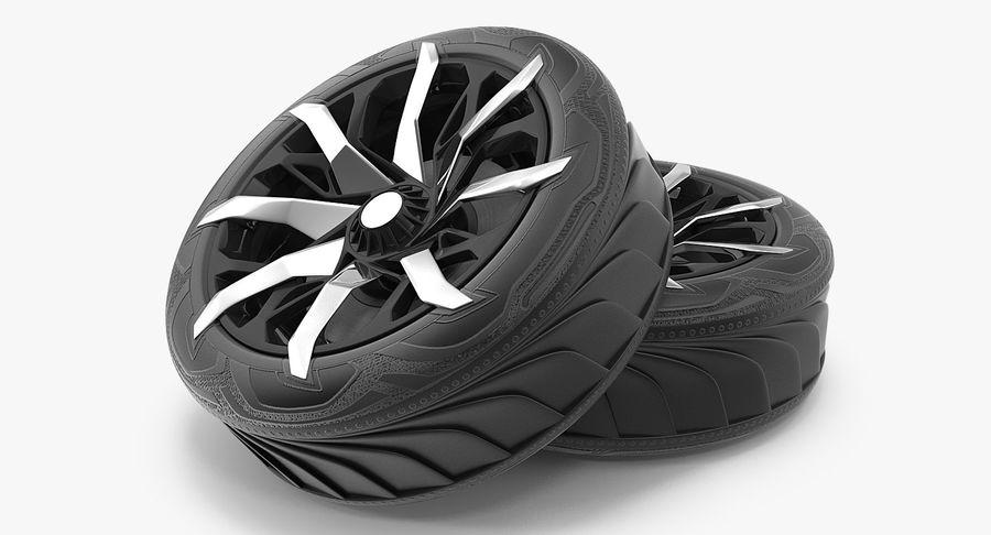 Rueda conceptual royalty-free modelo 3d - Preview no. 4