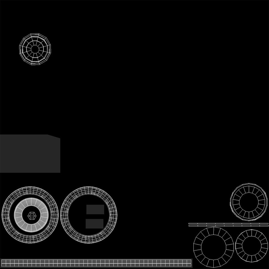 Rueda conceptual royalty-free modelo 3d - Preview no. 12