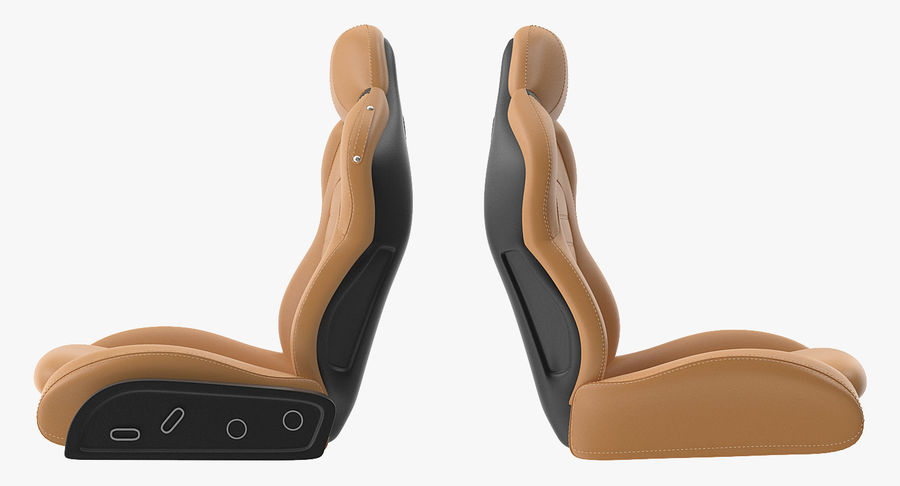 Sports Car Front Seat royalty-free 3d model - Preview no. 5