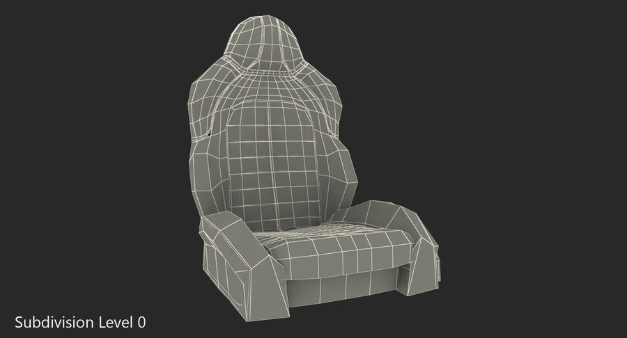 Sports Car Front Seat royalty-free 3d model - Preview no. 9