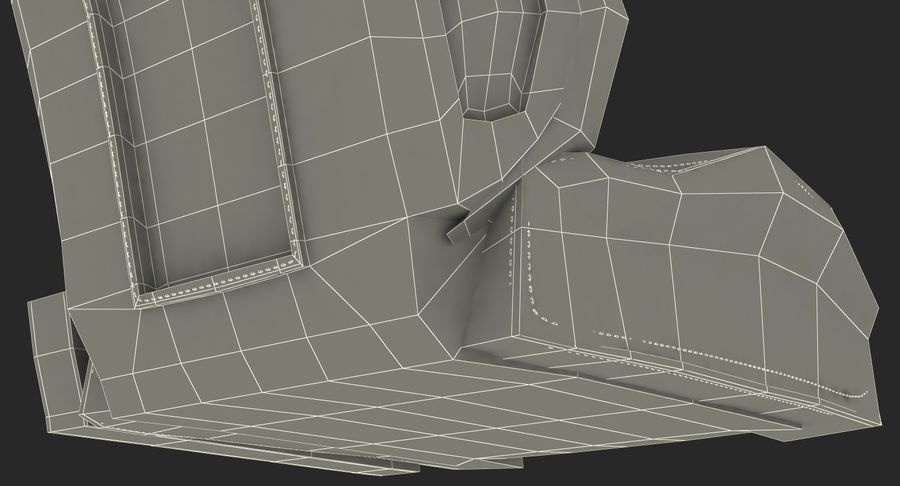 Sports Car Front Seat royalty-free 3d model - Preview no. 19