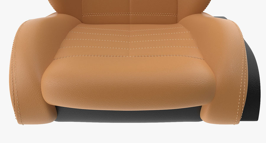 Sports Car Front Seat royalty-free 3d model - Preview no. 8