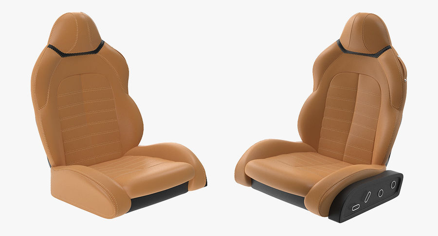Sports Car Front Seat royalty-free 3d model - Preview no. 3