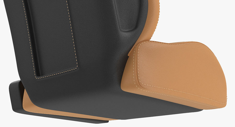 Sports Car Front Seat royalty-free 3d model - Preview no. 7
