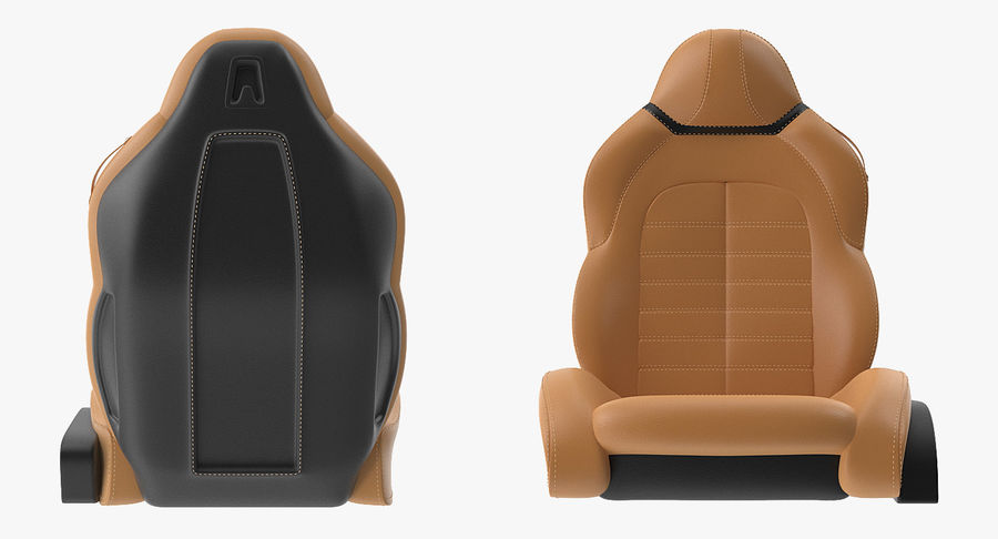 Sports Car Front Seat royalty-free 3d model - Preview no. 4