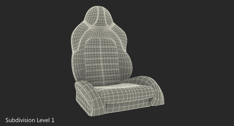 Sports Car Front Seat royalty-free 3d model - Preview no. 10