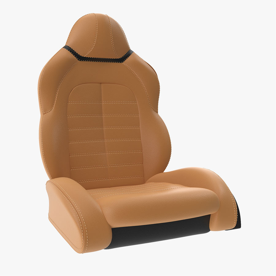 Sports Car Front Seat royalty-free 3d model - Preview no. 1