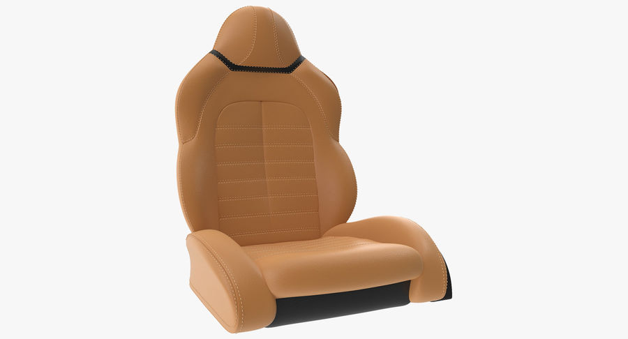 Sports Car Front Seat royalty-free 3d model - Preview no. 2