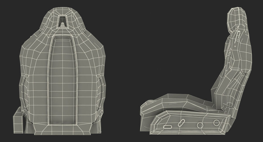 Sports Car Front Seat royalty-free 3d model - Preview no. 18