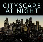 Paisaje urbano de noche modelo 3d