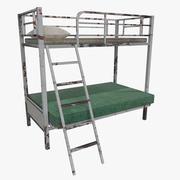 古い二段ベッド 3d model