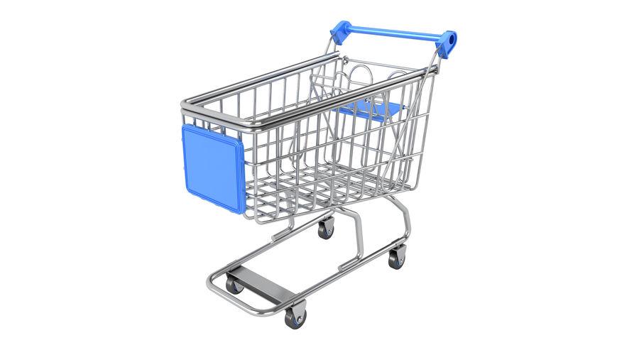 Carrinho de supermercado royalty-free 3d model - Preview no. 2