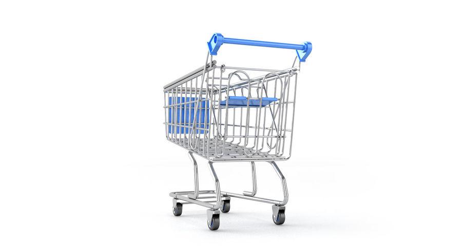 Carrinho de supermercado royalty-free 3d model - Preview no. 7