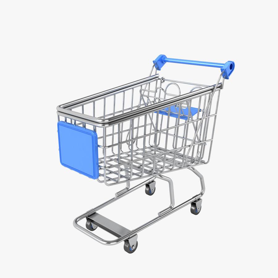Carrinho de supermercado royalty-free 3d model - Preview no. 1