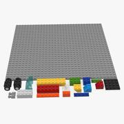 Lego Bricks Pieces 3d model