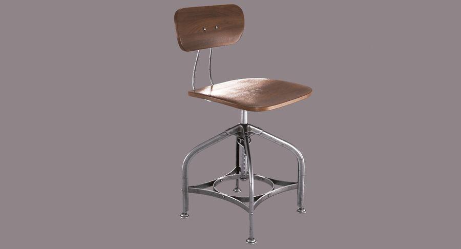 Krzesło przemysłowe royalty-free 3d model - Preview no. 4