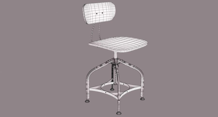 Krzesło przemysłowe royalty-free 3d model - Preview no. 12