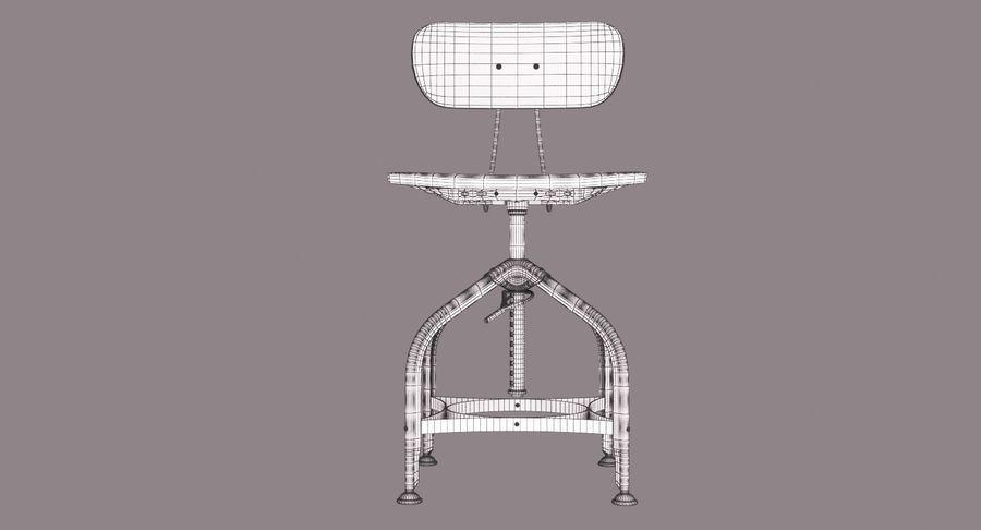 Krzesło przemysłowe royalty-free 3d model - Preview no. 11