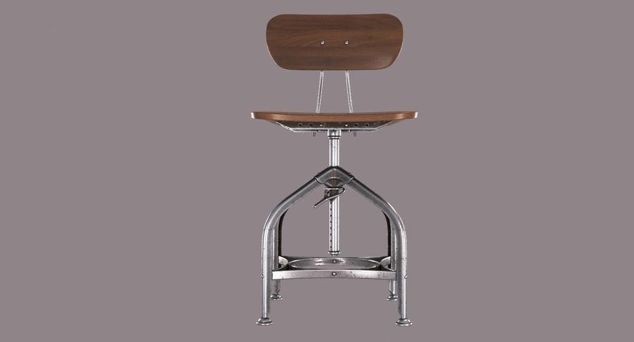 Krzesło przemysłowe royalty-free 3d model - Preview no. 3