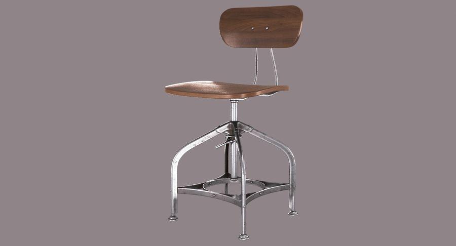 Krzesło przemysłowe royalty-free 3d model - Preview no. 2