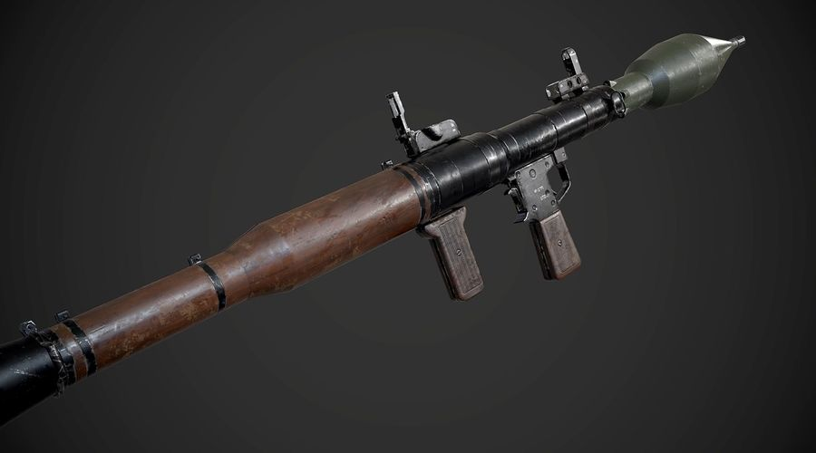 RPG-7便携式导弹发射器AAA游戏武器 royalty-free 3d model - Preview no. 6