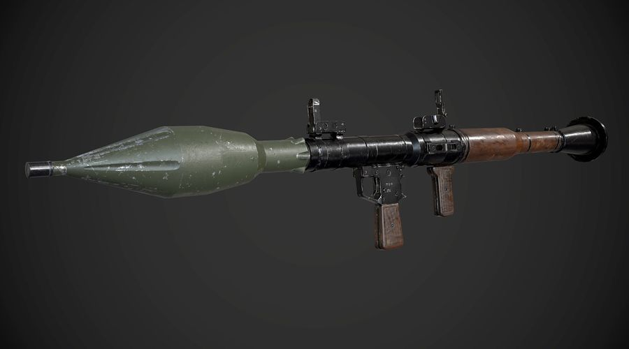 RPG-7便携式导弹发射器AAA游戏武器 royalty-free 3d model - Preview no. 4