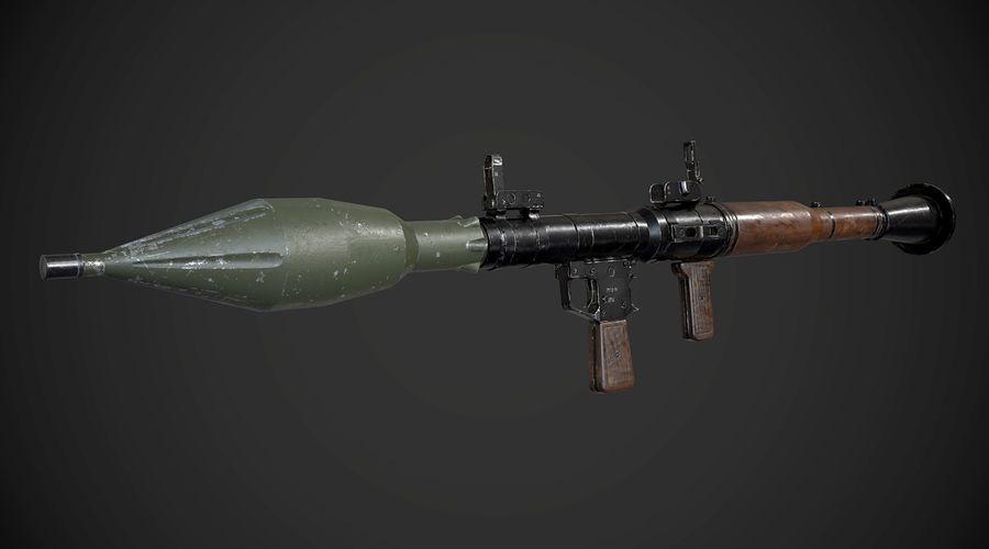RPG-7 Przenośna wyrzutnia rakiet AAA Broń do gier royalty-free 3d model - Preview no. 4