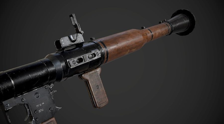 RPG-7便携式导弹发射器AAA游戏武器 royalty-free 3d model - Preview no. 9