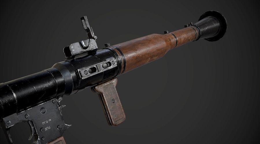 RPG-7 Przenośna wyrzutnia rakiet AAA Broń do gier royalty-free 3d model - Preview no. 9