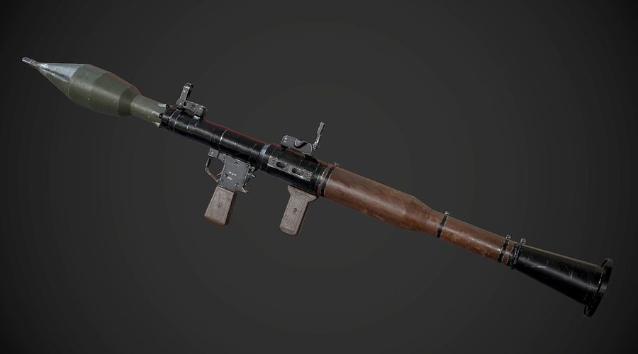 RPG-7便携式导弹发射器AAA游戏武器 royalty-free 3d model - Preview no. 3