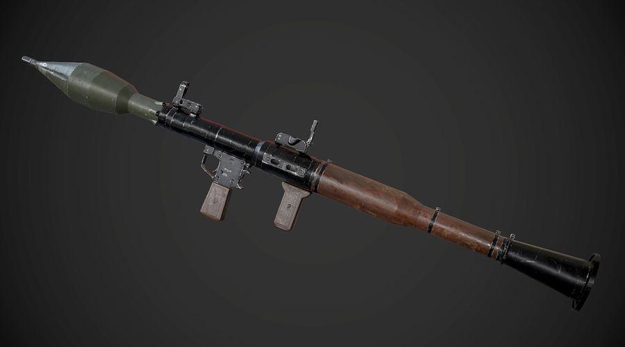 RPG-7 Przenośna wyrzutnia rakiet AAA Broń do gier royalty-free 3d model - Preview no. 3