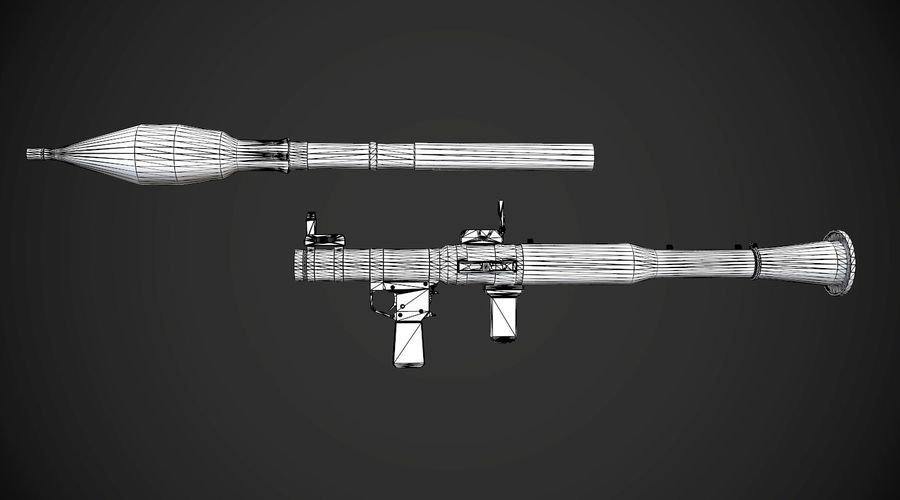 RPG-7 Portable Missile Launcher AAA Spielwaffe royalty-free 3d model - Preview no. 20